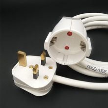 250V 13A European/German Standard Socket And UK Plug  With Cable Extension Cord 1.8M