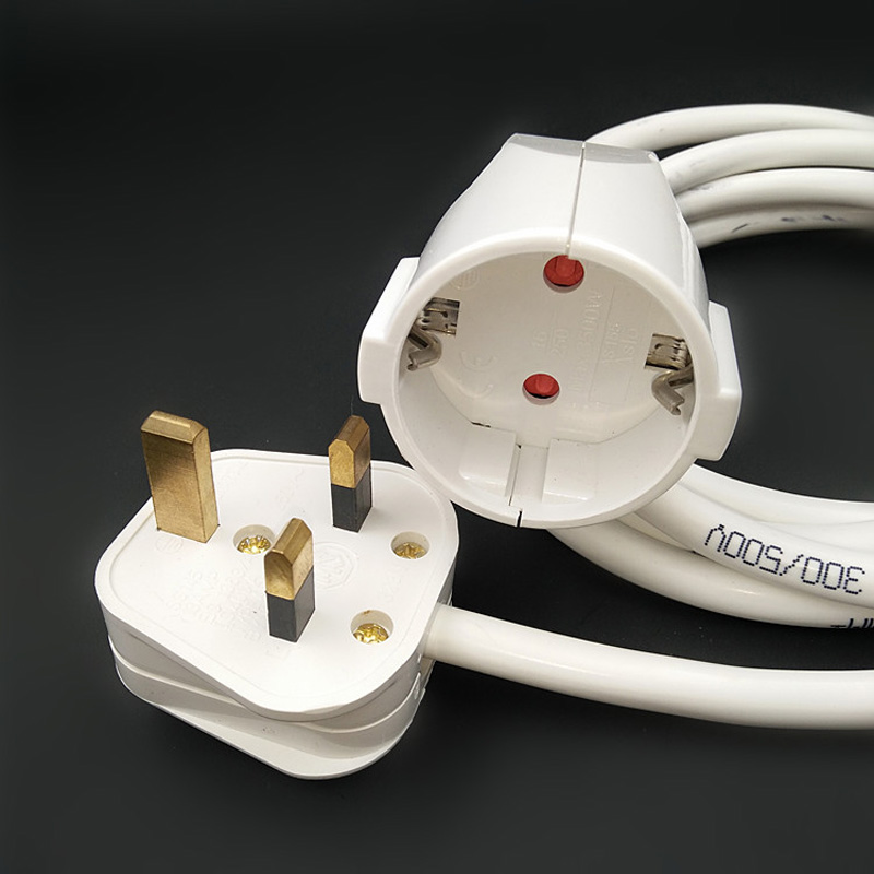 250V 13A European German standard socket and UK plug With Cable Extension cord 1 8M