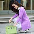 2017 Nova Moda Outono Primavera Mulheres Cardigans Camisola Quente Ocasional Projeto Longa Feminina de Malha Casaco Cardigan Sweater Lady