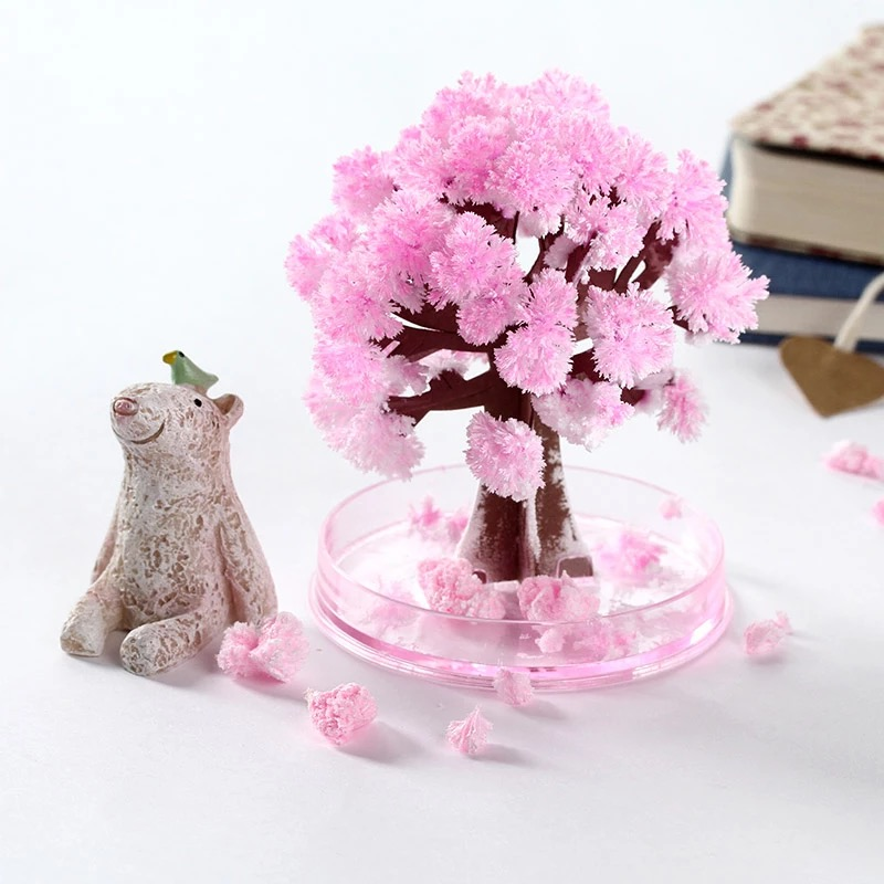 Children Best Birthday Gifts Novelty Creative DIY Paper Flower Toys Paper Christmas Tree Magic Growing Paper Sakura