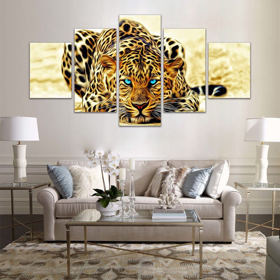 Leopard Bedroom Ideas For Painting: Aliexpress.com : Buy Canvas Wall Art Pictures Home Decor 5