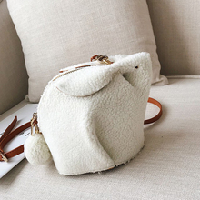 Mini Bag Crossbody-Bags Korean-Style Cute Ladies Female Women for Rabbit Plush Winter