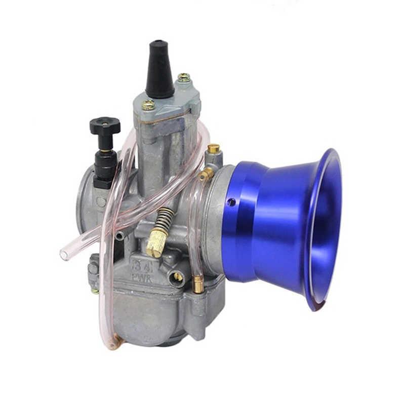50mm hava filtresi arayüzü bardak 24/26/28/30mm motosiklet karbüratör altın mavi gri kırmızı gümüş yeni