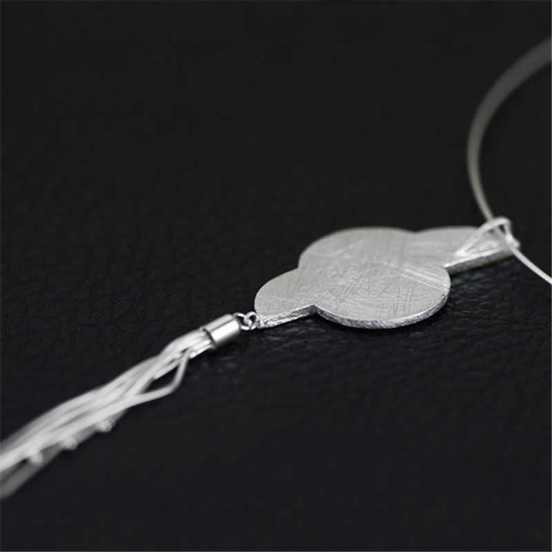 Lotus สนุก 925 เงินสเตอร์ลิงจี้สำหรับเครื่องประดับที่ไม่ซ้ำกันสายรุ้งยาว Tassels จี้อัญมณีหรูของขวัญ Dropshipping
