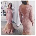 De 2016 vestido de festa rosa vestido de dubai vestes dentelle apenas casado Formelle decalques luxo dubai vestes longo argumento Dos robes