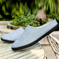 39-45 High Quality Slip On Canvas Lazy Shoes Soft Men Linen Casual Shoes Driving Shoes Half Heel Men's Flats Walking Shoes