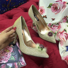 купить YIFSION New Fashion Spring Summer Women Pumps Sexy Pointed Toe Slip On Flower Thin High Heel Women Pumps Party Shoes Woman по цене 6833.24 рублей