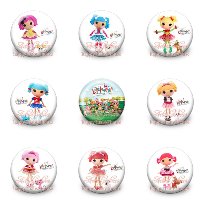 Lovely 9styles 45pcs The Lalaloopsy Novelty Buttons Pins Badges,round Badges,30mm Diameter,clothing/bags Accessories,party Gifts Rapid Heat Dissipation Luggage & Bags