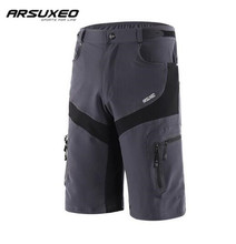 ARSUXEO Mens Mountain Bike Bicycle Shorts Water Resistant Breathable Outdoor Sports Cycling Downhill MTB