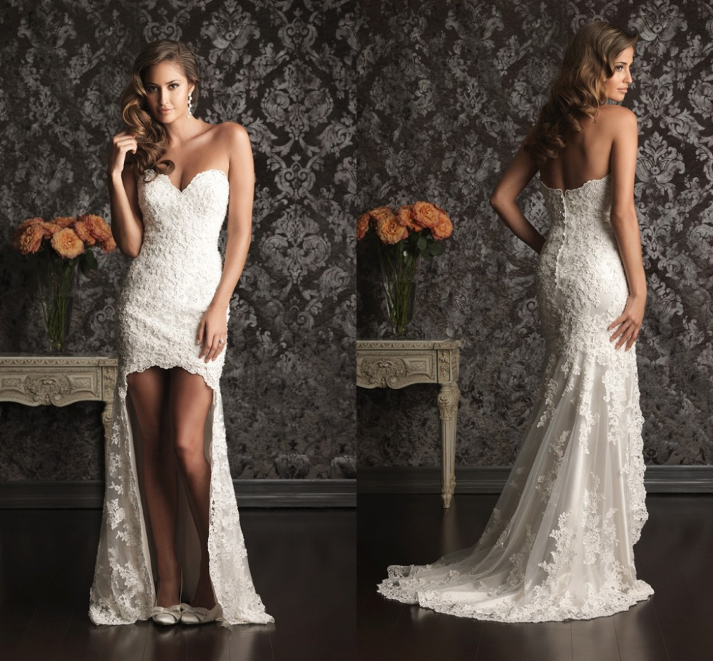 Buy new fashion lace asymmetrical sexy for Wedding dresses to buy off the rack