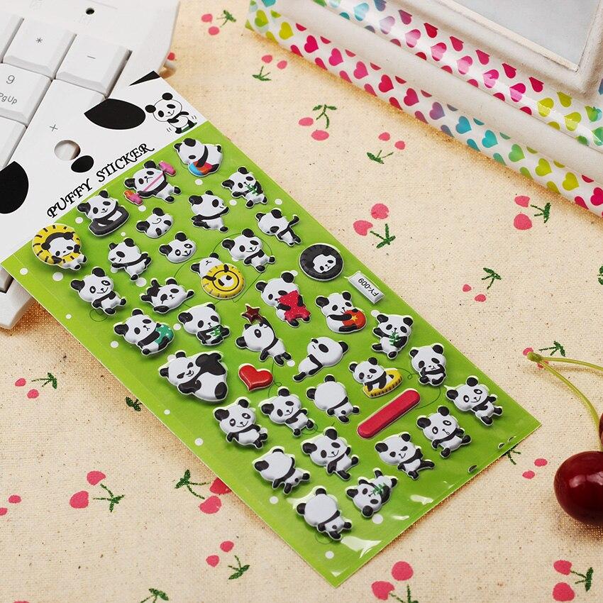 1PC Cute Panda 3D Bubble Sticker Decoration Decal DIY Diary Album Scrapbooking Kawaii Stationery