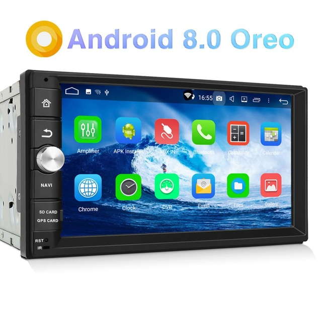 "Pumpkin Octa Core RAM 4G ROM 32G 2 Din7""Android 8.0 Universal Car Stereo Fast Boot Radio WiFi GPS Navigation Audio Player NO DVD"