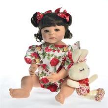 55 cm Reborn corpo silicona niña bebé juguetes para muñecas niña vinilo recién nacido princesa bebe l. o l renacer metoo realista regalos