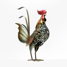 """Home creative decoration """"day of chicken"""" New Year's chicken for the Chinese lunar New Year steel art zodiac souvenir ironwork"""