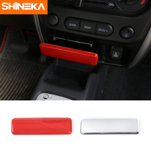 SHINEKA ABS 2 Colors Car Styling Ashtray Decorative Cover Trim for Suziki Jimny 2007+ High Quality Accessories