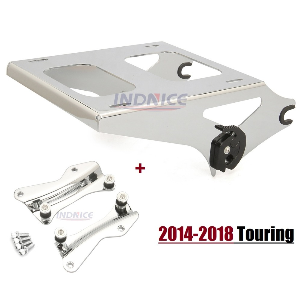 где купить Motorcycle moto Chrome 4 Point Docking Hardware Kit With Luggage Rack For Harley Touring 14 15 16 Electra Glide Road Glide king дешево