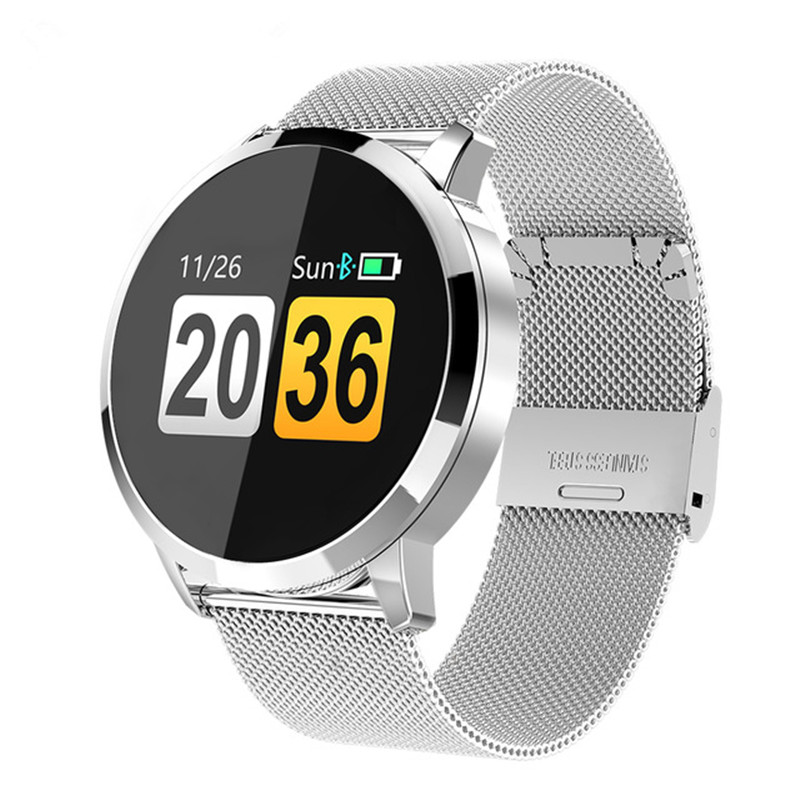 SIAJE Q8 montre intelligente OLED écran couleur Smartwatch femmes mode Fitness Tracker moniteur de fréquence cardiaque