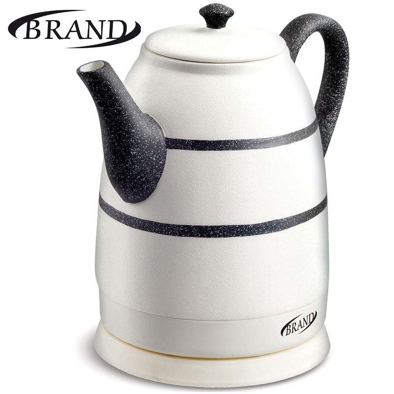 BRAND403B Electric Ceramic Kettle,1.6L,1500W, teapot anti-dry protect overheat protect safety auto-Off function, 2years warranty hot insulated double layer proof electric kettle anti dumping stainless steel kettles overheat protection