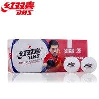 Оптовые продажи звено-100 Мячи DHS 40 + Seamed 1-Star мячи для настольного тенниса новый материал Пластиковые Мячи для пинг-понга