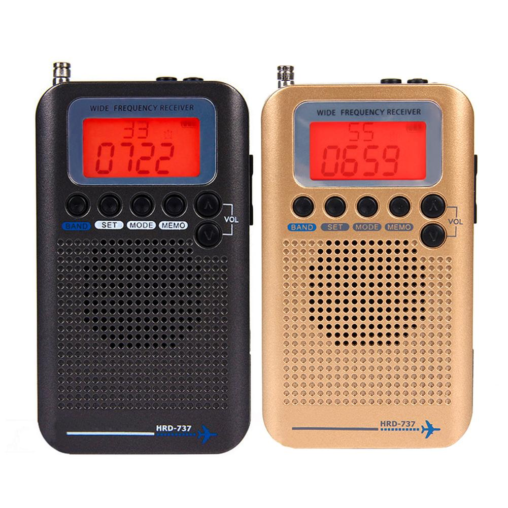Мини Радио HRD 737 портативный цифровой LCD полный диапазон FM/AM/SW/CB/Air/VHF радио приемник стерео радио Радиоприёмники      АлиЭкспресс
