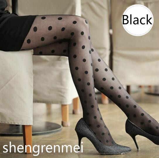 Shengrenmei 2019 Leuke Sexy Wit Zwart Sheer Vrouwen Panty Kousen Zomer Dunne Boog Dot Patroon Kous Dropshipping