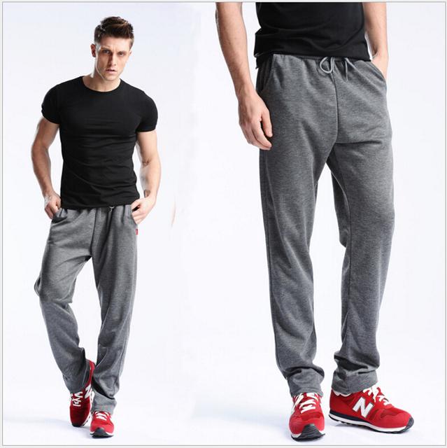2016 Nueva Moda Otoño Invierno Hombre Marca Pantalones Ropa masculina Pantalones Casuales pantalones holgados Pantalones de Lana Caliente de los hombres