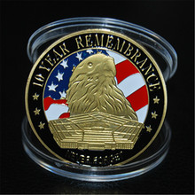 The United States Eagle liberty justice trade gold plated 911 Coin Commemorative coins Coins Gift 1pcs