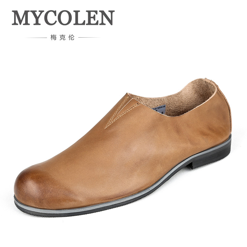 MYCOLEN 2018 Hot Sale Men Loafers Shoes Fashion Brand Leather Party Prom Handmade Loafers Designer Shoes Chaussure Homme SportMYCOLEN 2018 Hot Sale Men Loafers Shoes Fashion Brand Leather Party Prom Handmade Loafers Designer Shoes Chaussure Homme Sport