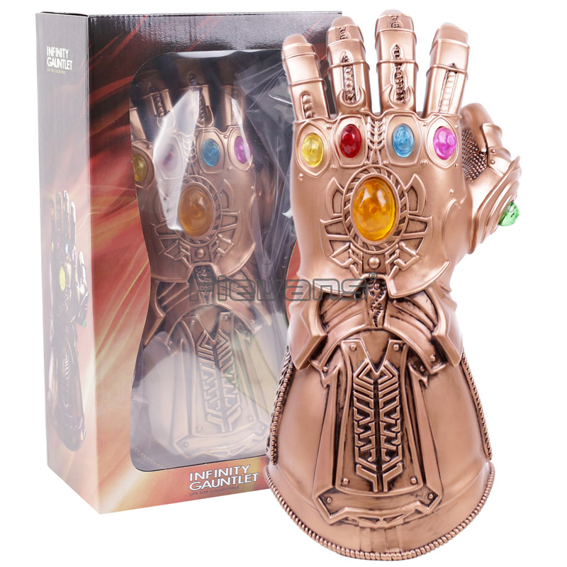 Avengers: Infinity Guerra Guanti Superhero Vendicatori Thanos Thanos Infinity Gauntlet Cosplay Lattice Guanto Halloween Party Accessori