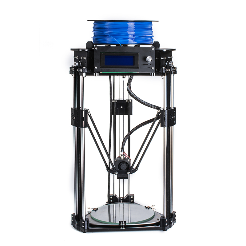 High-precision High Quality Kossel delta 3d printer Automatic leveling 3d printer kit with LCD display filament SD card for free