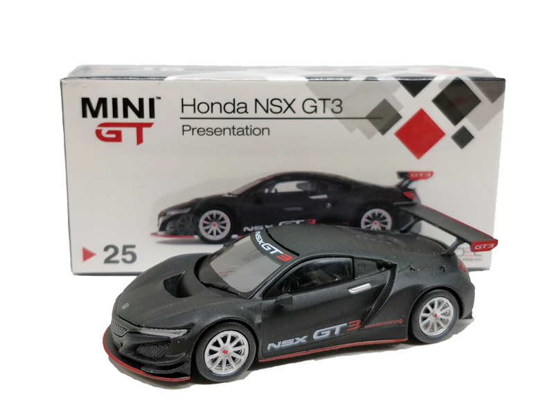 1:64 TSM Model MINI GT Honda NSX GT3 Presentation Black LHD Diecast Model Car1:64 TSM Model MINI GT Honda NSX GT3 Presentation Black LHD Diecast Model Car