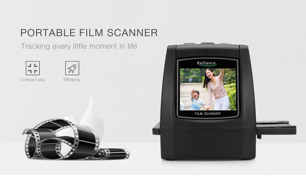 Relliance EC018 Film Scanner High-resolution Film Slide Scanner CMOS 35mm,110/135/126KPK/Super 8 films USB 2.4 TFT LCD Black 11