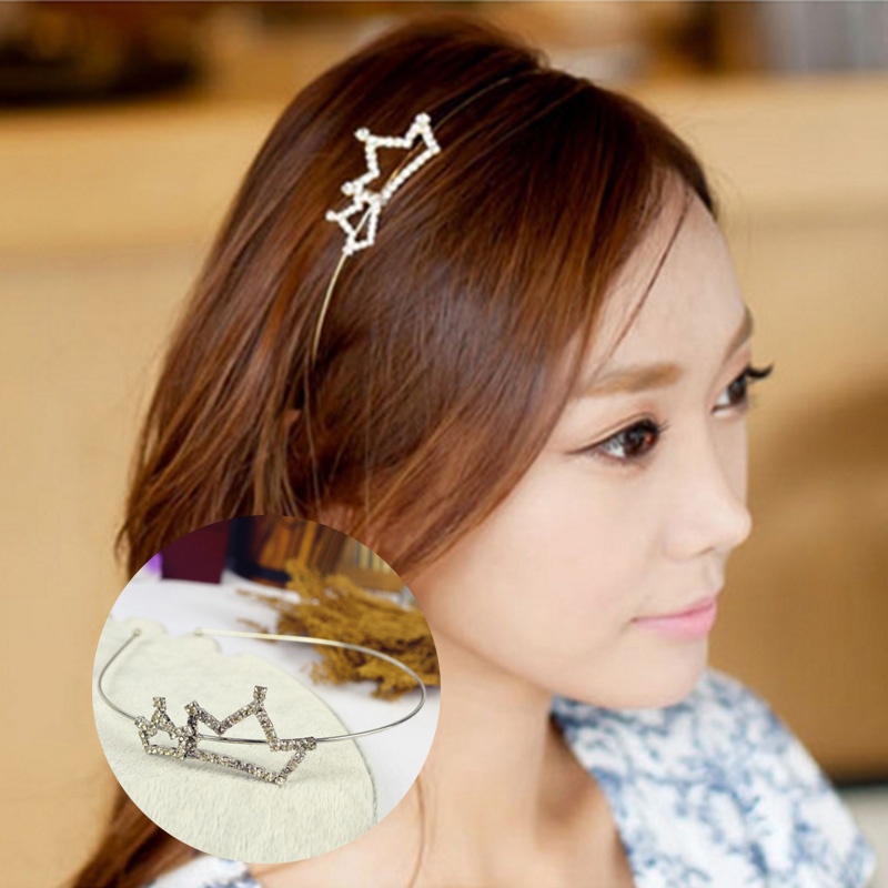 Girl's Accessories Apparel Accessories Korea Velvet Tie Knot Hairbands Gold Letter Hairband Crown Headbands For Girls Hair Bows Hair Accessories Vivid And Great In Style