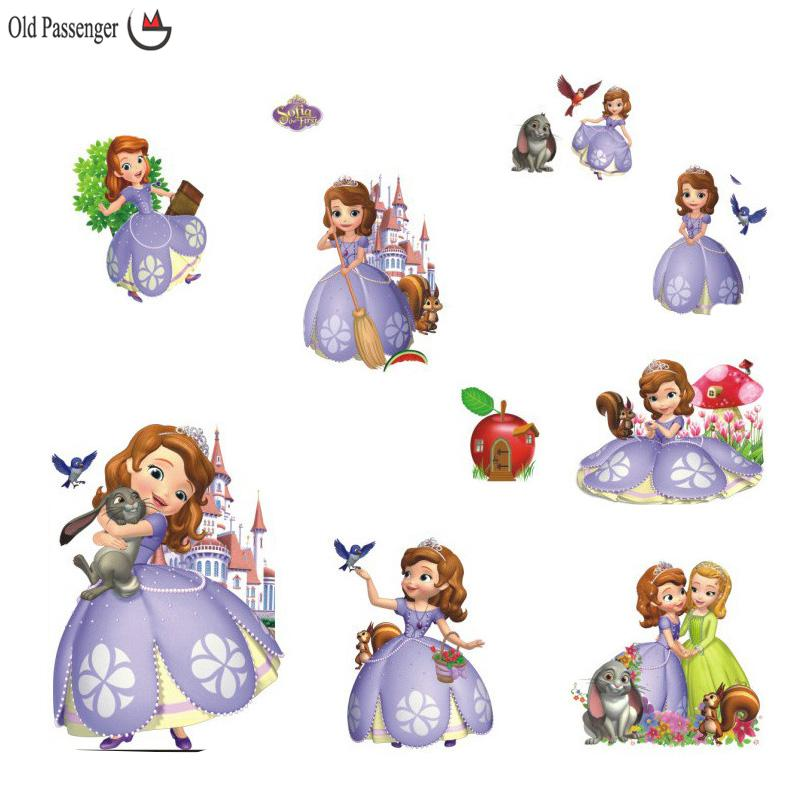 Old passenger princess sofia 3d diy wall sticker bedroom for Belly button bears wall mural