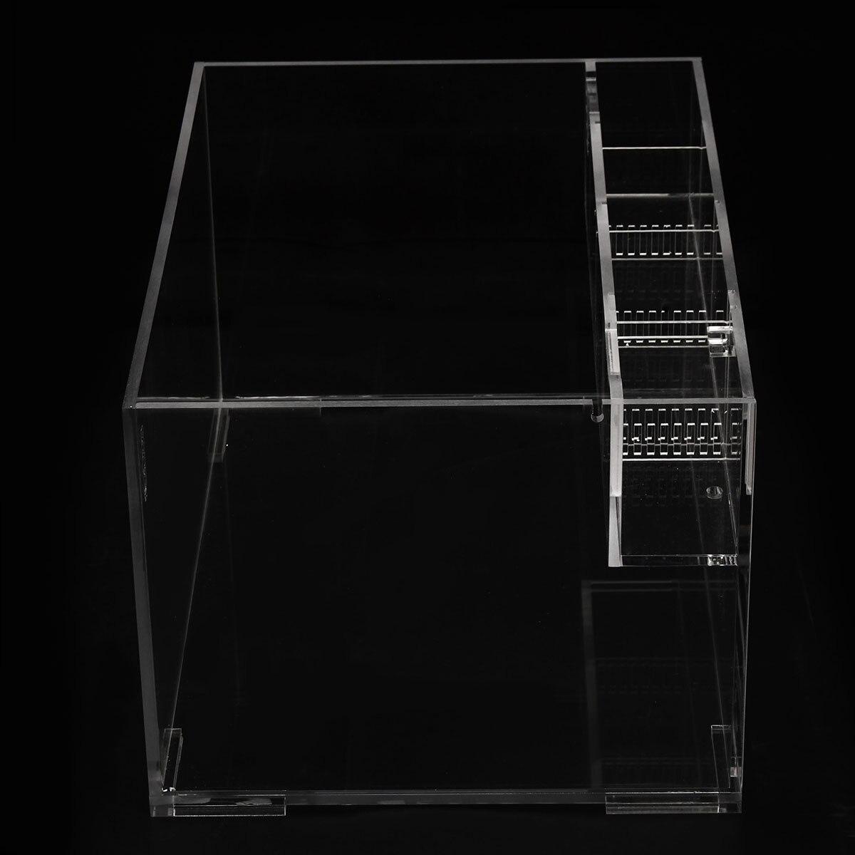 Aquarium acrylique clair réservoir de poisson avec pompe à eau filtre maison bureau décoration de bureau tortue rouge boîte d'élevage conteneur - 6