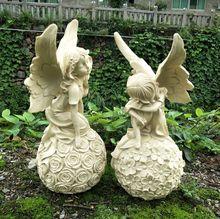 Cupid Flower Resin Candlestick Garden Decor Sculpture Statue Flower Pot