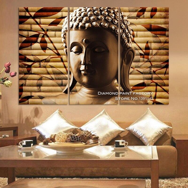 Листья бамбука Будды DIY алмаз Вышивка мозаика ремесел multigang 3D Вышивка с кристаллами Стразы Home Decor