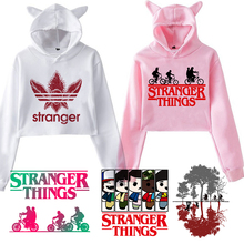 Stranger Things Hoodie Woman Hooded Hoodies Kpop Sweatshirts Kawaii Ko