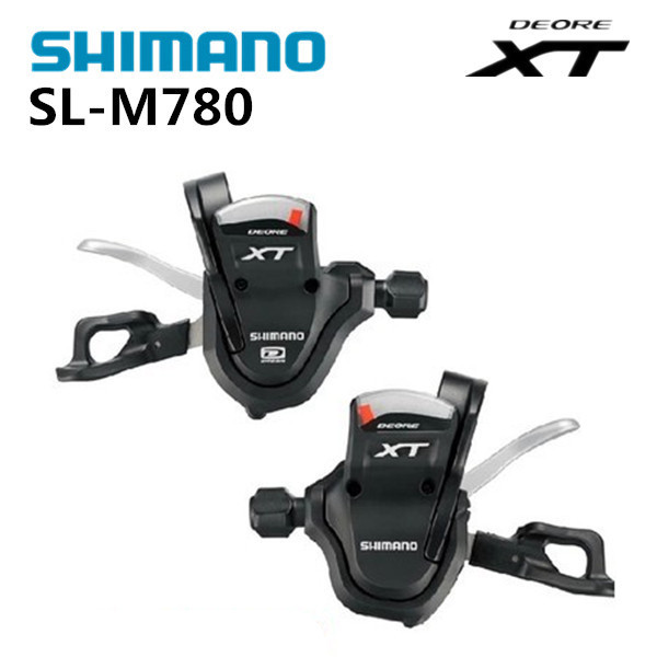 SHIMANO XT SL M780 Thumb Shifter Left & Right MTB Mountain Bike Derailleurs 3 x 10s 30 Speed Bicycle Transmission shimano x t r sl m9000 thumb shifter left & right mtb mountain bike derailleurs 11s 22s 33s speed bicycle transmission