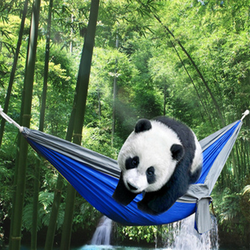 2017 foreign trade sales of high quality portable parachute nylon fabric travel outdoor camping hammock free shipping