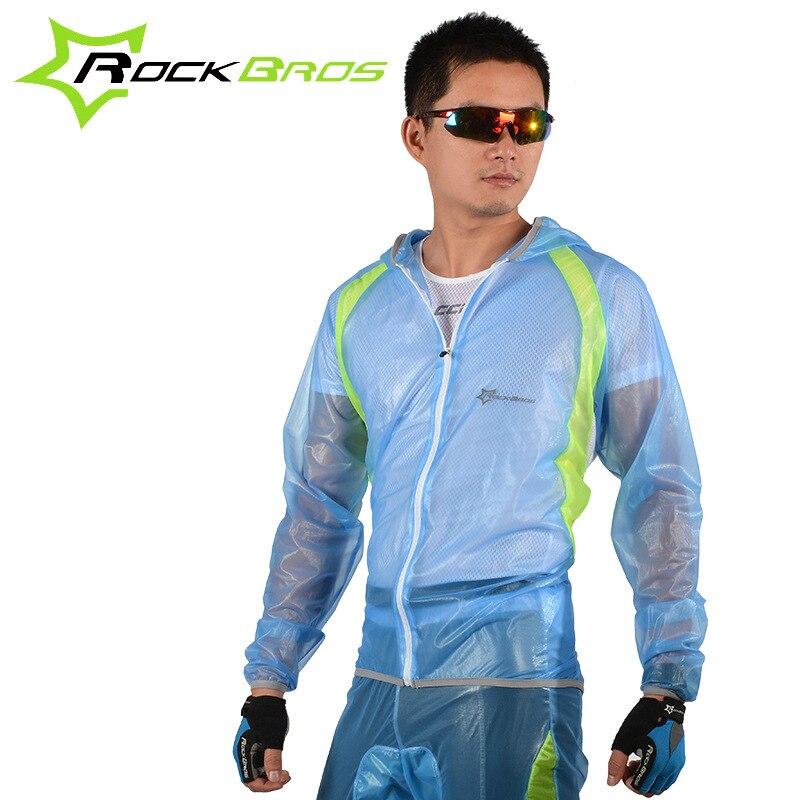 d77fd727b6 ROCKBROS Ciclismo Define capa de Chuva Reflexivo Tarja Respirável Bicicleta  Jersey Calças dos Ternos Do Esporte Roupas de Ciclismo Bicicleta Jaqueta  Top 50