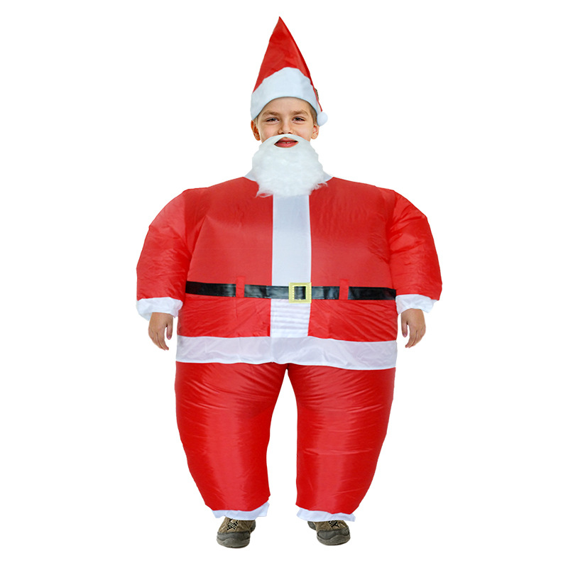 Inflatable Santa Claus Costume Christmas Funny Cosplay  Clothes Inflated Garment Party Festival Funny Dress Merry Christmas