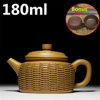 Special Design Teapots Chinese Ceramic Yixing Teapot 180ml Handmade Purple Clay Tea Pot Set Zisha Pots
