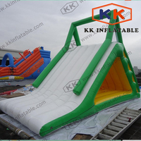 summer seaside giant inflatable Triangle water slide for fun