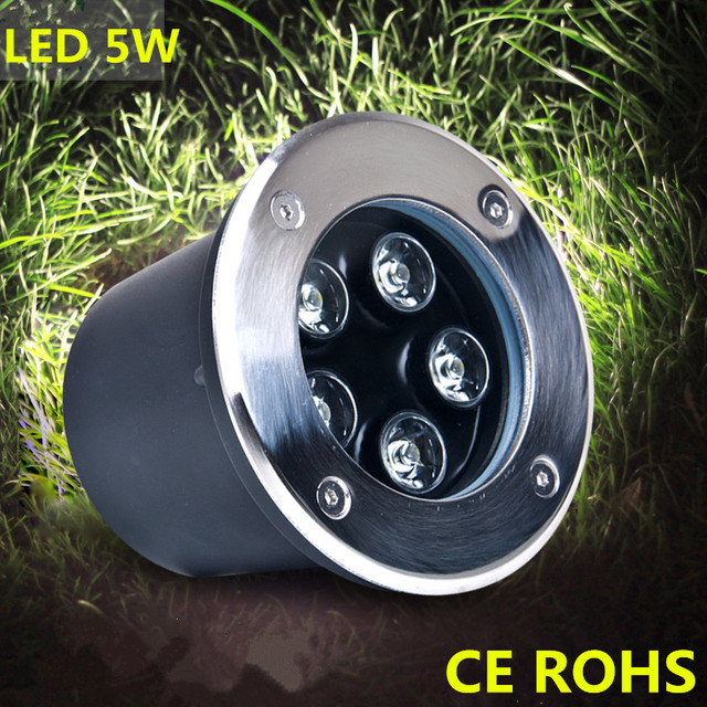 Waterproof led underground lights lamp IP67 Buried Outdoor Spot recessed inground Lighting 1W3W Path Garden  Path lamp