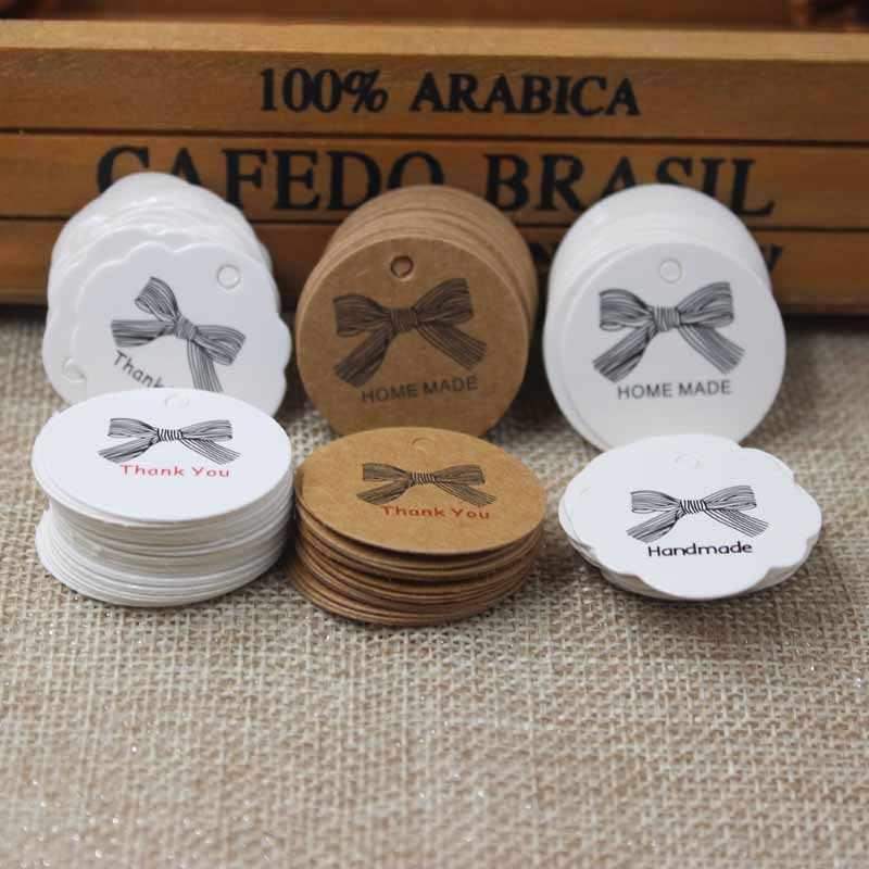 NewZerong Với tình yêu cưới thiên nhãn giấy Vintage Mr & Mrs cưới chúc Kraft thẻ. kẹo ủng hộ hiển thị trang sức thẻ 3cm200pcs