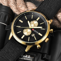 NORTH Mens Watches Top Brand Luxury Quartz Gold Watch Men Leather Analog Date Casual Military Sport Wrist Watch Rolex_watch