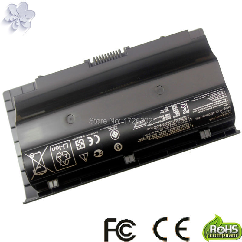 laptop Battery For Asus G75VW G75 G75VX G75V 3D A42-G75 G75VM G75VW-DS73 G75VW-FS71 G75VW-FS72