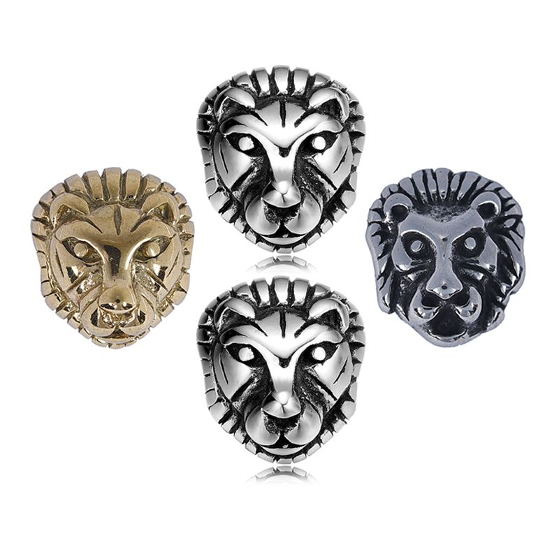 Lion Leopard Head Beads Stainless Steel Spacer Charms Pendant for Bracelet Necklace Jewelry Making Findings Handmade Gifts