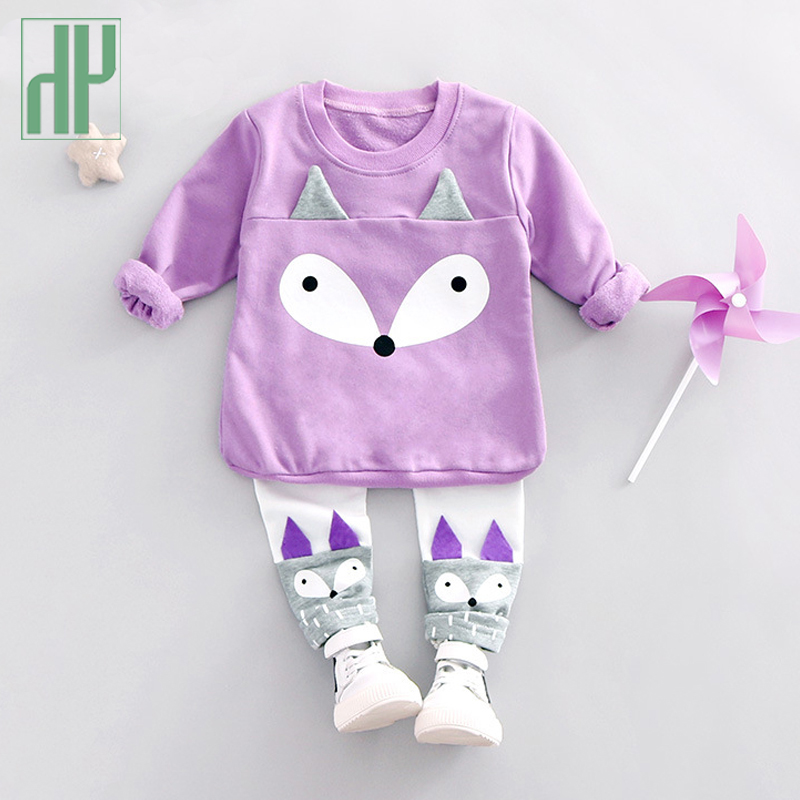 Toddler girls clothes 2pcs Long Sleeve Fox Tops+Pant Sets Children's Clothing Casual School Wear outfits boutique kids clothing